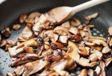La cuisson des cèpes